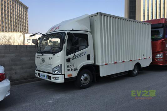 解放J6F电动厢式运输车